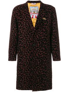 пальто с леопардовым принтом Gcds