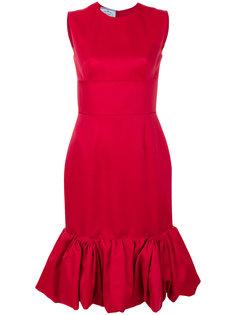 платье с расклешенным подолом Prada