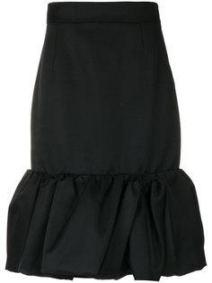 юбка с оборками на подоле Prada