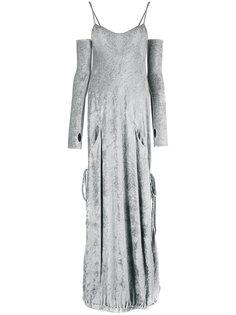 платье с эффектом перчаток  Andrea Yaaqov