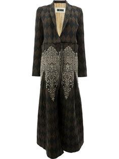 длинное узорчатое пальто Uma Wang