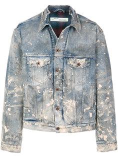 джинсовая куртка с потертой отделкой Off-White