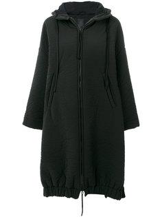 пальто с капюшоном с мятым эффектом Thom Krom