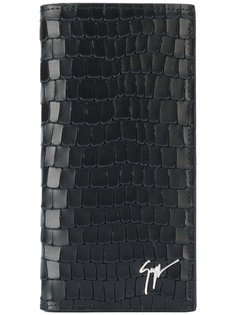 текстурированный кошелек с тиснением логотипа Giuseppe Zanotti Design