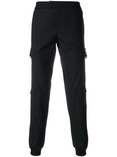 брюки с кожаной отделкой Les Hommes