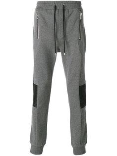 спортивные брюки со стегаными панелями Les Hommes