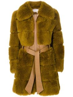 пальто с мехом  Chloé