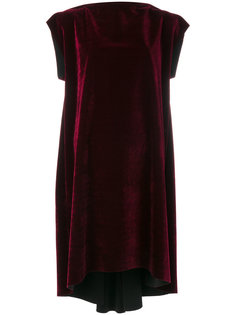 бархатное платье со сборками Mm6 Maison Margiela