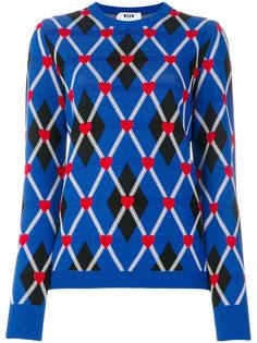 свитер с геометрическим узором MSGM