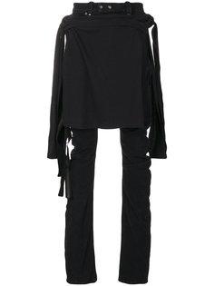 джинсы с потертой отделкой Unravel Project