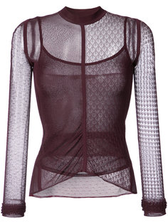 lace and net detailed top  Jason Wu