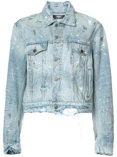 джинсовая куртка с брызгами краски Amiri