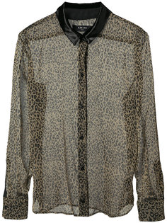 прозрачная рубашка с леопардовым принтом Amiri