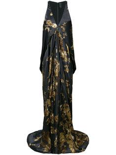 длинное платье с принтом Ormalu Vera Wang