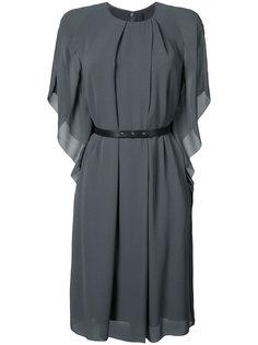 leather belt kimono dress Vera Wang