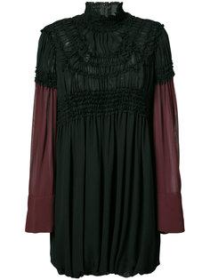 платье с высоким воротом Vera Wang