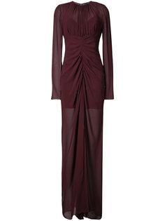 draped sheer gown Vera Wang