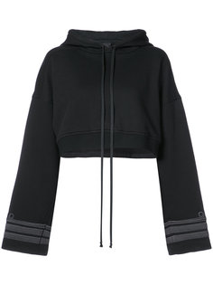 cuffs detail cropped hoodie Vera Wang