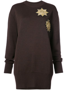 metallic patches loose-fit jumper Vera Wang