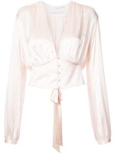 блузка с глубоким V-образным вырезом Givenchy