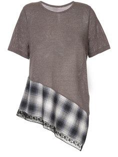 """асимметричная футболка дизайна """"колор-блок"""" Mm6 Maison Margiela"""