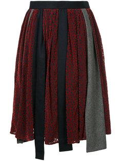 асимметричная юбка лоскутного кроя Kolor