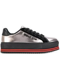 кроссовки со шнуровкой на платформе Versace Jeans