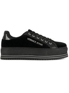 кроссовки на платформе со шнуровкой Versace Jeans