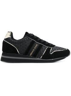 кроссовки с полосками по бокам Versace Jeans