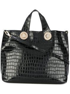 сумка-тоут с эффектом крокодиловой кожи Versace Jeans