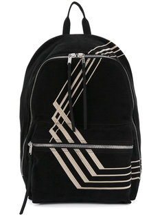 рюкзак с полосатой панелью Rick Owens DRKSHDW