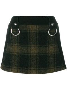 мини-юбка с принтом тартан  Alyx