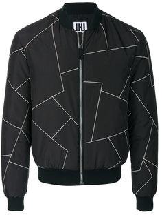 куртка-бомбер с геометрическим принтом Les Hommes Urban