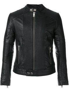 """байкерская куртка с воротником """"мандарин"""" Les Hommes Urban"""