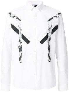 рубашка узкого кроя с панелями с принтом Les Hommes Urban