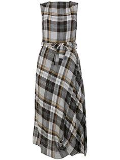 платье в шотландскую клетку с поясом Vivienne Westwood