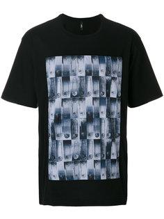 футболка с фото-принтом Versus