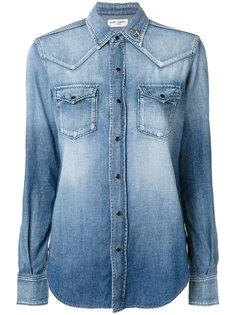 ковбойская рубашка с заклепками в виде сердец Saint Laurent