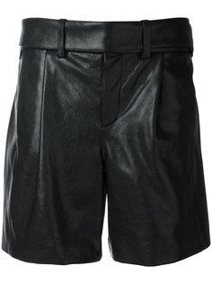 шорты с завышенной талией  Saint Laurent