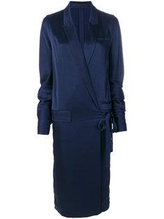 платье с запахом и завязкой  Haider Ackermann