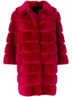 пальто со вставками и укороченными рукавами  Simonetta Ravizza