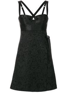 жаккардовое платье с бюстье Dolce & Gabbana