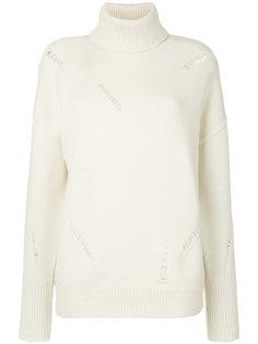 свитер с высоким воротником с рваным эффектом  Michael Michael Kors