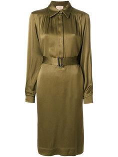 платье-рубашка с ремнем Erika Cavallini