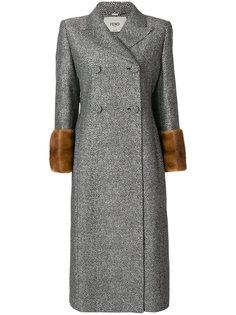 классическое приталенное пальто  Fendi