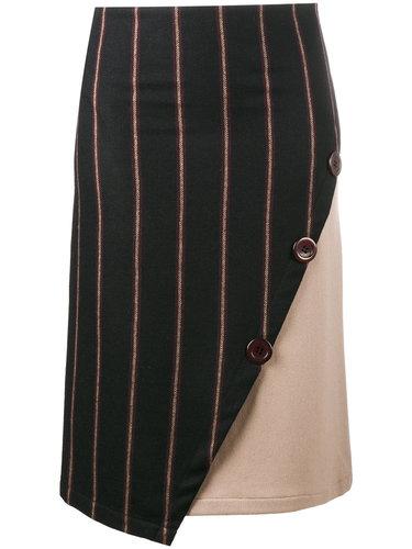 прямая асимметричная юбка в полоску  Jour/Né