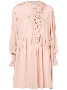 платье-рубашка с рюшами Erika Cavallini