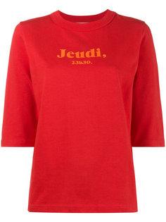 футболка с принтом Jeudi 23h30 Jour/Né