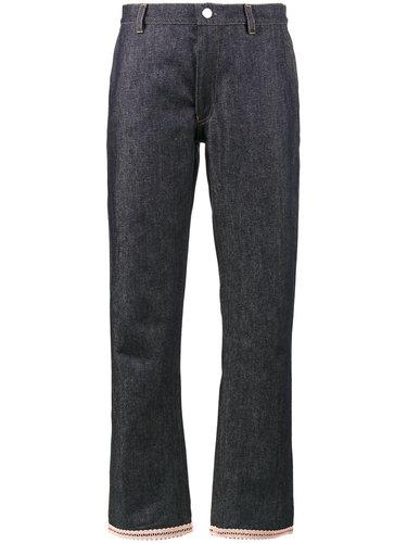 джинсовые брюки с декором на подоле Jour/Né