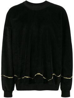 свитер с золотистой вышивкой Haider Ackermann
